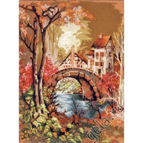 """Канва/ткань с нанесенным рисунком Gobelin-L """"Дугообразный мостик"""""""