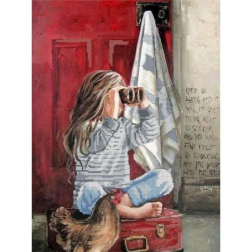 """Канва/ткань с нанесенным рисунком Глурия (Астрея) """"В дальнюю дорогу"""""""