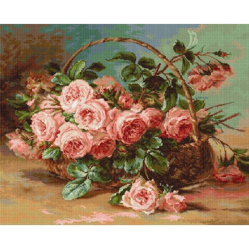 """Набор для вышивания крестом Luca-S """"Розы в корзине"""""""