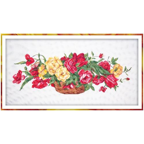"""Набор для вышивания крестом Матрёнин посад """"Корзина с розами"""""""