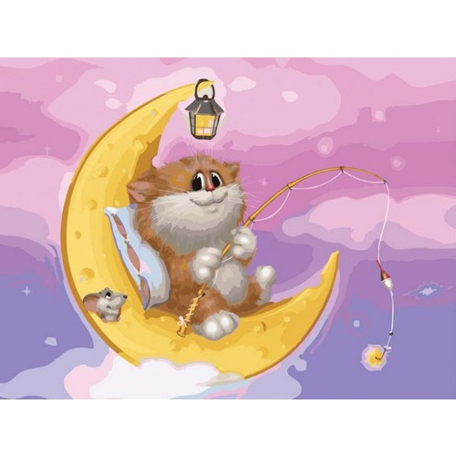 "Набор для раскрашивания Белоснежка ""Котик на луне"""