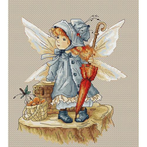 """Набор для вышивания крестом Luca-S """"Фея"""""""