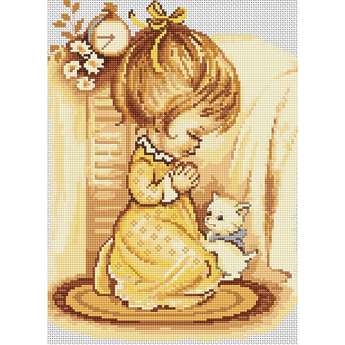 """Набор для вышивания крестом Luca-S """"Мольба девочки"""""""
