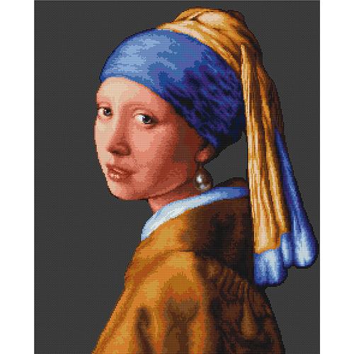 """Набор для вышивания крестом Luca-S """"Девушка с жемчужной сережкой"""""""