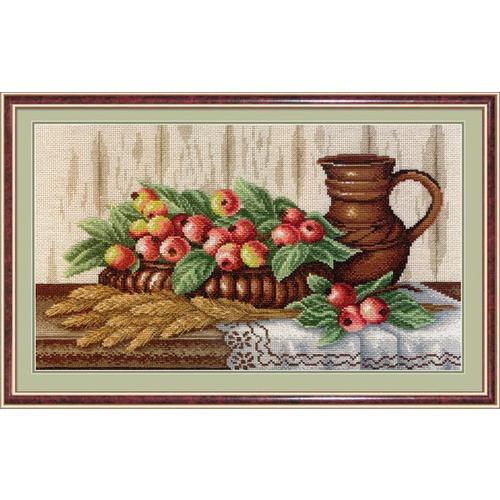 """Набор для вышивания гладью М.П. Студия """"Натюрморт с райскими яблоками"""""""