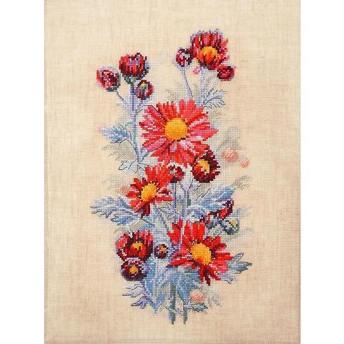 """Набор для вышивания крестом Марья искусница """"Красные хризантемы"""""""