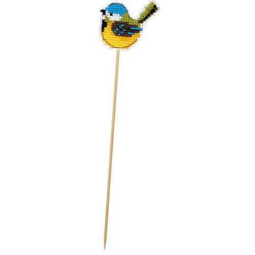 """Набор для вышивания крестом Риолис Украшение для цветов """"Птичка-синичка"""""""