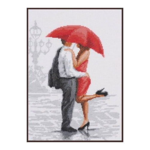 """Набор для вышивания крестом Палитра """"Красный зонтик"""""""