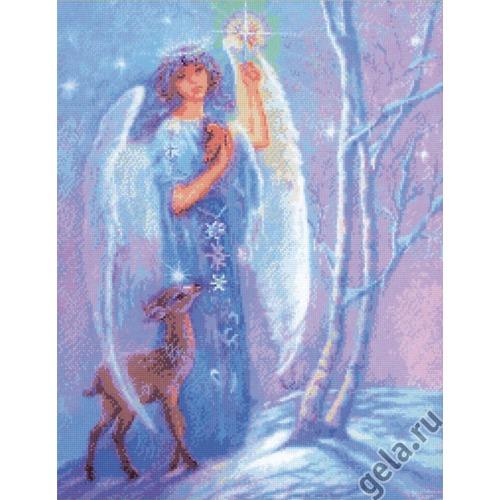 """Набор для вышивания крестом Kustom Krafts Inc. """"Ангел зимы"""""""
