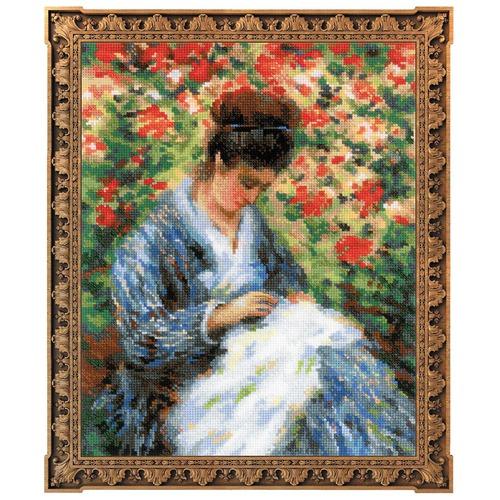 """Набор для вышивания крестом Риолис """"Мадам Моне за вышивкой (К. Моне)"""""""