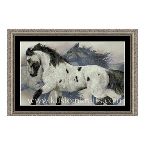 """Набор для вышивания крестом Kustom Krafts Inc. """"Дикие лошади"""""""