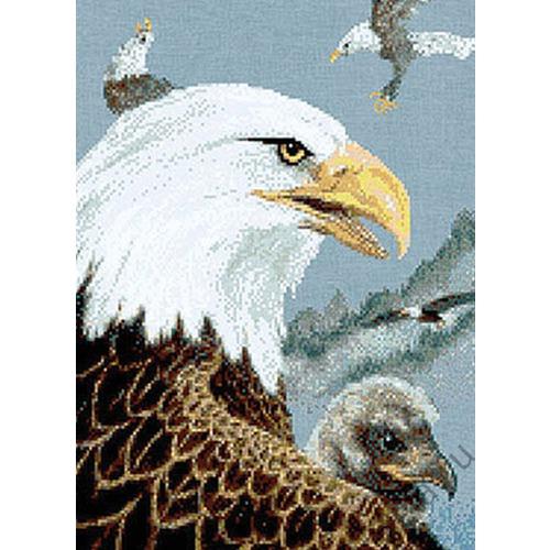 """Набор для вышивания крестом Kustom Krafts Inc. """"Орлиное семейство"""""""