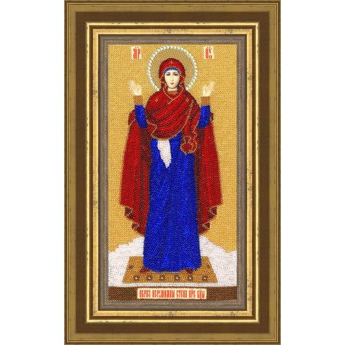 """Набор для вышивания бисером Золотое Руно """"Образ Божией Матери Нерушимая стена"""""""