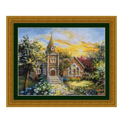 """Набор для вышивания крестом Kustom Krafts Inc. """"Священный приют"""""""
