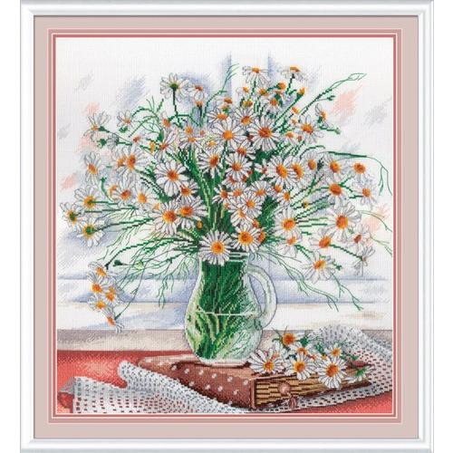 """Набор для вышивания крестом М.П. Студия """"Нежность полевых цветов"""""""