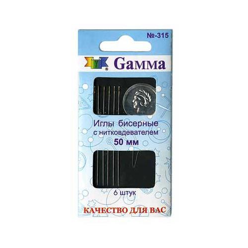 Аксессуары Gamma Иглы бисерные с нитковдевателем