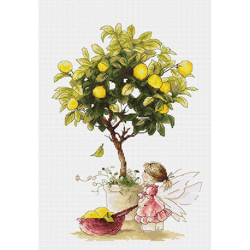 """Набор для вышивания крестом Luca-S """"Лимоны"""""""