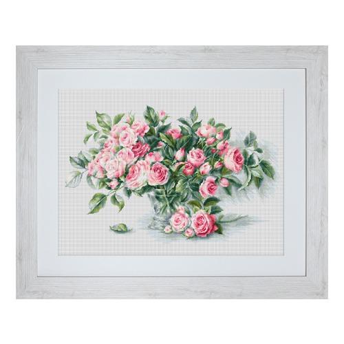 """Набор для вышивания крестом Luca-S """"Букет чайных роз"""""""