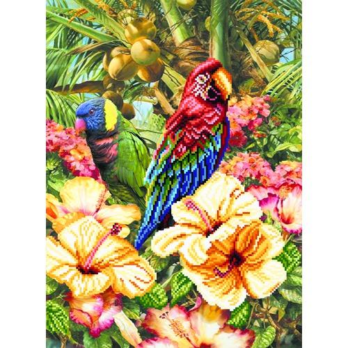 """Канва/ткань с нанесенным рисунком Матрёнин посад """"Экзотический остров"""""""