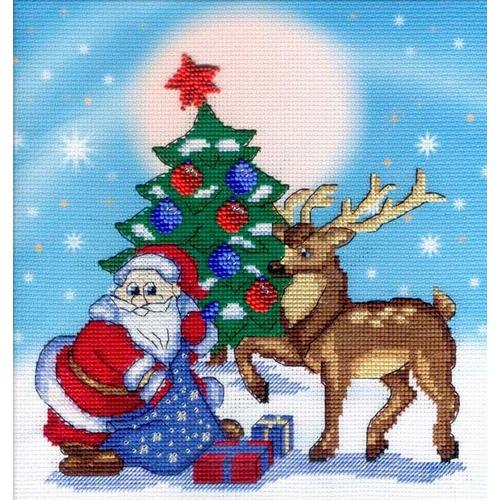 """Набор для вышивания крестом М.П. Студия """"Дед мороз"""""""