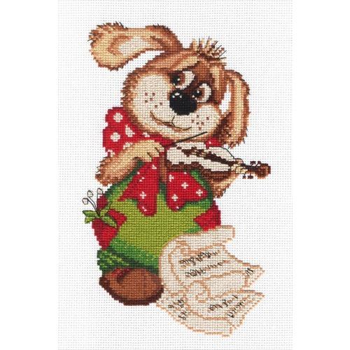 """Набор для вышивания крестом М.П. Студия """"Собачка со скрипкой"""""""