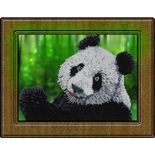 """Набор для вышивания бисером Вышиваем бисером """"Панда"""""""