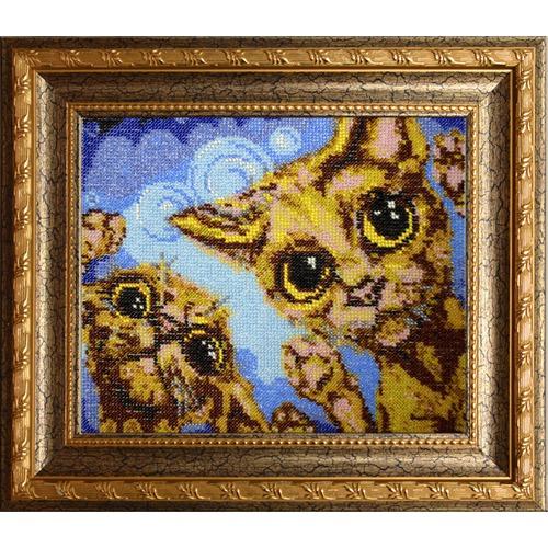 """Набор для вышивания бисером Вышиваем бисером """"Коты"""""""