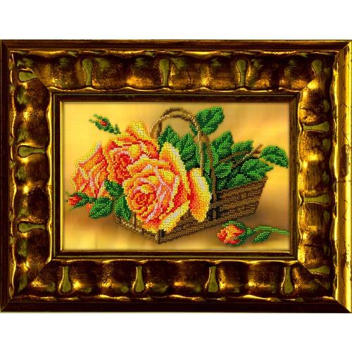 """Набор для вышивания бисером Вышиваем бисером """"Розы в корзине"""""""