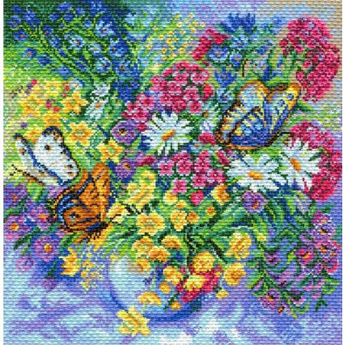 """Канва/ткань с нанесенным рисунком Матрёнин посад """"Буйство красок"""""""