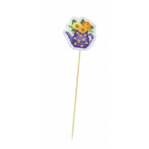"""Набор для вышивания крестом Риолис """"Украшение для цветочков.Кувшинчик"""""""