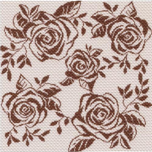 "Канва/ткань с нанесенным рисунком Матрёнин посад ""Танец роз"""