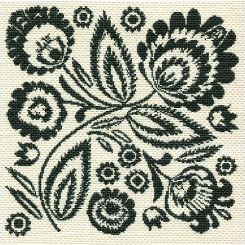 """Канва/ткань с нанесенным рисунком Матрёнин посад """"Таинственный цветок"""""""