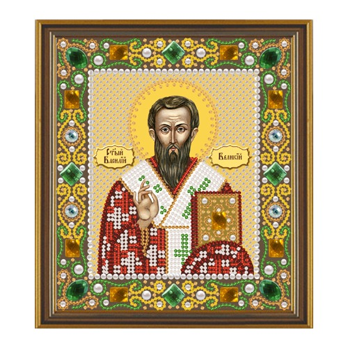 """Набор для вышивания бисером Nova sloboda """"Св.Василий Великий"""""""