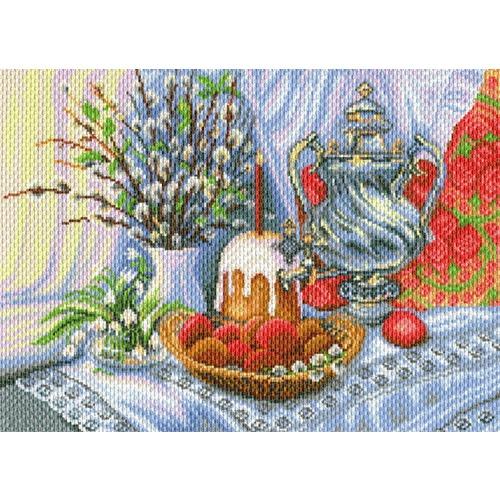 "Канва/ткань с нанесенным рисунком Матрёнин посад ""Пасхальный натюрморт"""