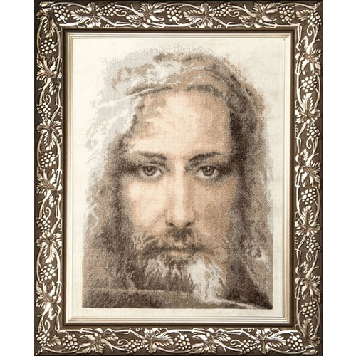 """Набор для вышивания крестом Чаривна Мить """"Священная реликвия христиан Туринская плащаница правдивый образ Господа Нашего Иисуса Христа"""""""
