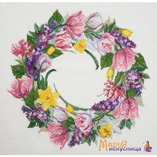 """Набор для вышивания крестом Марья искусница """"Майский венок"""""""