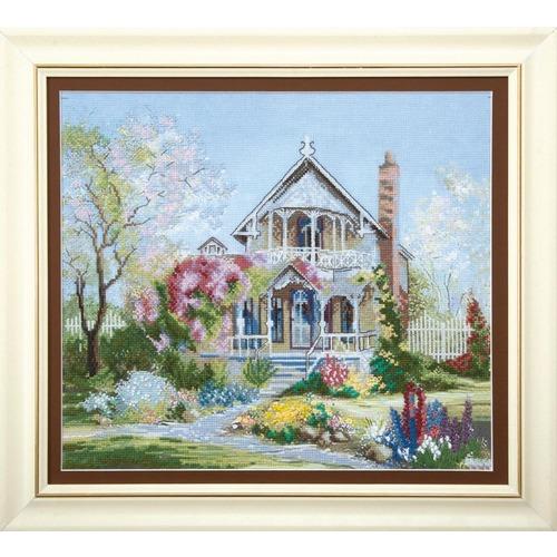 """Набор для вышивания крестом Чаривна Мить """"Цветущий сад"""""""