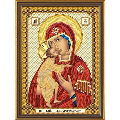 """Набор для вышивания бисером Nova sloboda """"Богородица Феодоровская"""""""
