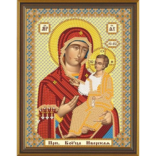 """Набор для вышивания бисером Nova sloboda """"Богородица Иверская"""""""