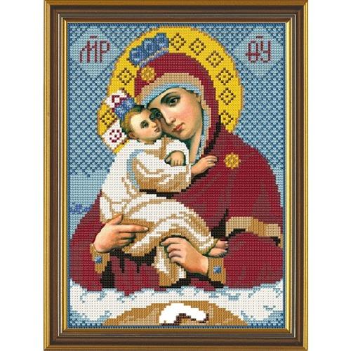 """Набор для вышивания бисером Nova sloboda """"Богородица Почаевская"""""""