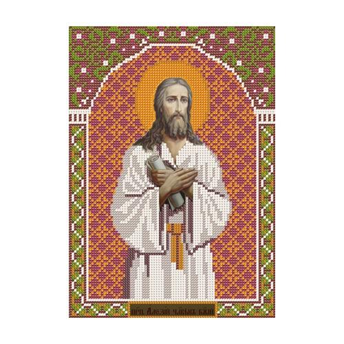 """Набор для вышивания бисером Nova sloboda """"Св. Прп. Алексий Человек Божий"""""""