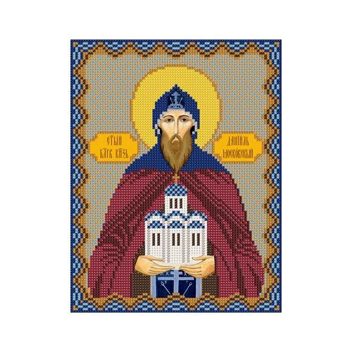 """Набор для вышивания бисером Nova sloboda """"Св. Блгв. Князь Даниил (Данил) Московский"""""""