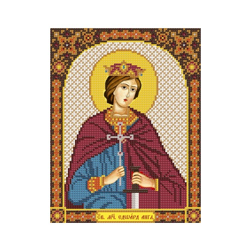 """Набор для вышивания бисером Nova sloboda """"Св. Мч. Эдуард (Эдвард) Король Английский"""""""