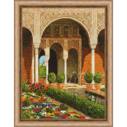 """Набор для вышивания крестом Риолис """"Двор ручья. Дворец Хенералифе"""""""