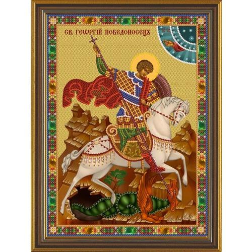 """Набор для вышивания бисером Nova sloboda """"Святой Георгий Победоносец"""""""