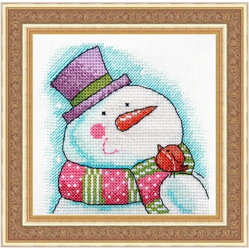 """Набор для вышивания крестом NeoCraft """"Снеговик"""""""
