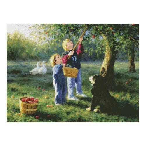 """Набор для вышивания крестом Candamar Designs """"Нет ничего лучше яблок джонатан"""""""