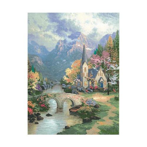 """Набор для вышивания крестом Candamar Designs """"Часовня в горах"""""""
