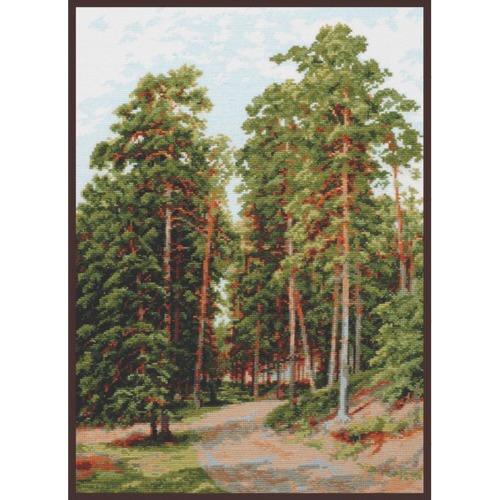 """Набор для вышивания крестом Палитра """"Солнце в лесу (И. Шишкин)"""""""