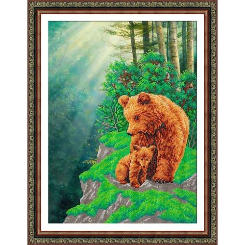 """Набор для вышивания бисером Паутинка """"Медвежья семейка"""""""